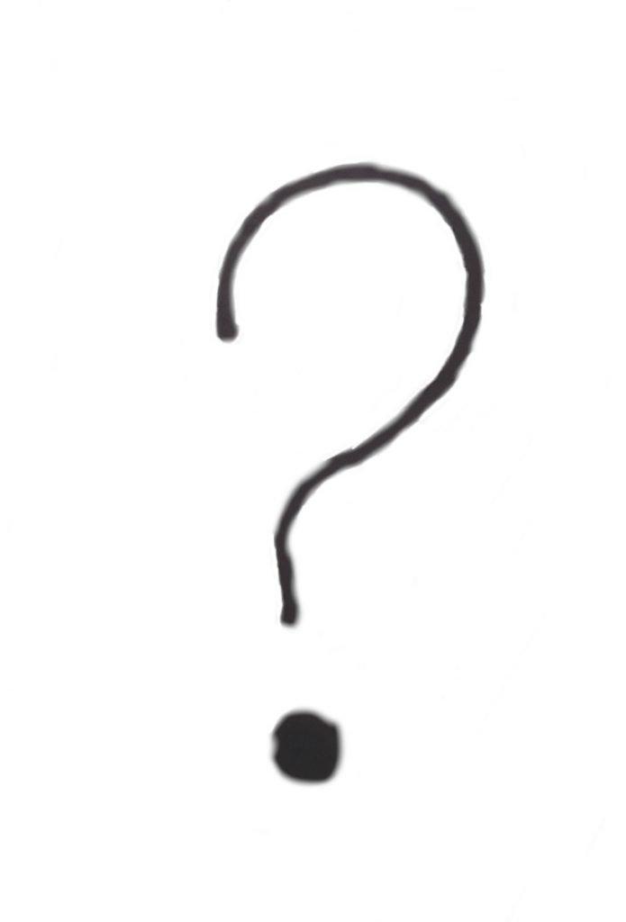 hand drawn question mark
